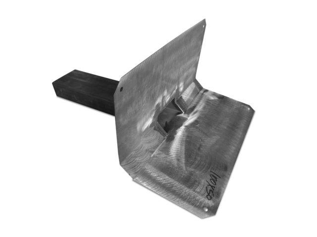 Notuberlauf mit Bitumenkeil 2x 45 Grad, Edelstahl