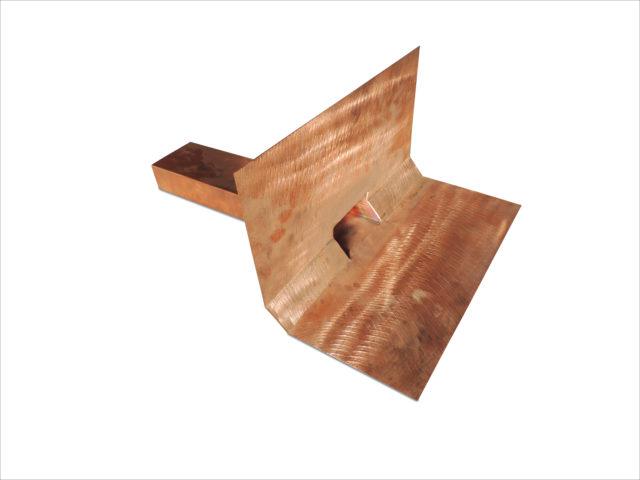 Notüberlauf, Kupfer, 2x abgewinkelt mit Bitumenkeil