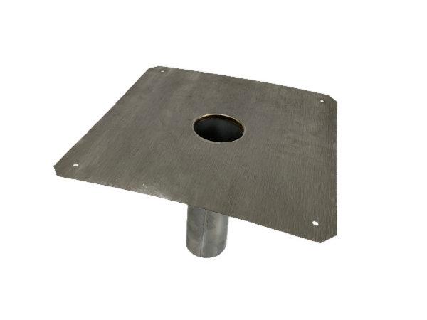 Dachwasserablauf-Chromstahl-Edelstahl-mit geradem Stutzen