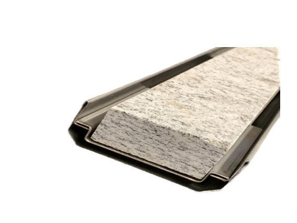 Doppelschlitzrinne für Steineinlage, Entwässerungsrinne für Steineinlage, Edelstahl
