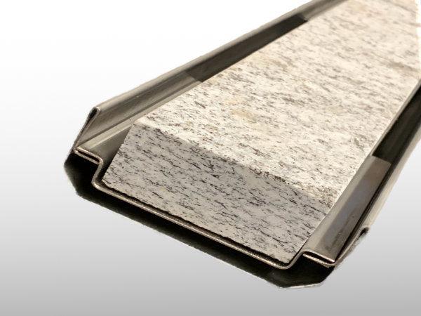 Doppelschlitzrinnen für Steineinlage