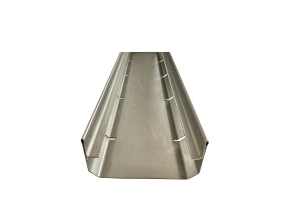 Entwässerungsrinne aus Chromstahl für Anwendung als Flachdachrinne, Balkonrinne, Terrassenrinne - begehbar, Breite: 100mm