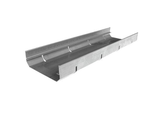 Flachdachrinne Edelstahl begehbar, 125x40, edelstahl
