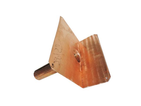 Speier aus Kupfer 1x abgewinkelt
