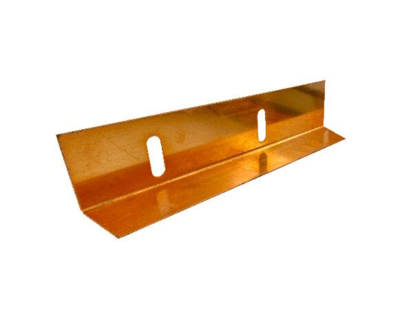 Kiesschiene Kupfer, Kieswinkel, Kupfer, 1x abgekantet, einseitig geschlitzt