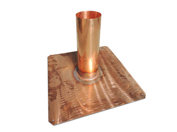 Einfassung, Kupfer, mit geschliffenem Tablet