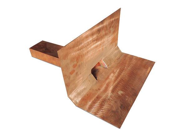 Notüberlauf, Kupfer, mit Bitumenkeil 2x 45°