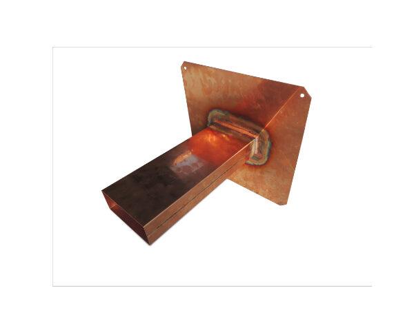 Notüberlauf aus Kupfer mit geradem Tablet